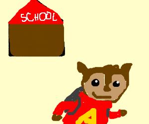 Alvin skips school