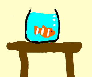 Fish Bowl on a Desk