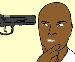 Dangerous Black Man Confused by Guns