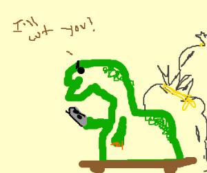 Legless Dino has a shiv!