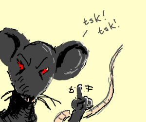 Evil rat sees what you're doing drawing by Ciriart ...
