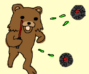 Pedobears training for Star Wars