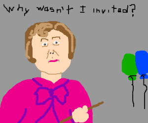 Dolores Umbridge wasn't invited to party