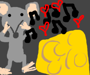rodent plays romantic tune for cheese