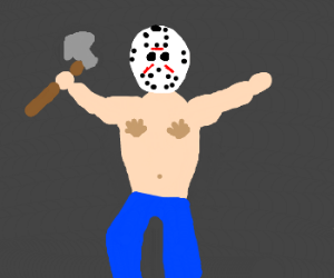 Axe murderer with hand-shaped nips.