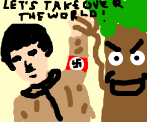 Hitler teams up with evil tree