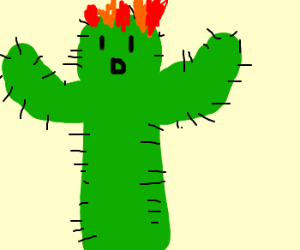 Human Torch turned into Cactus