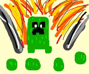 Creeper goes boom