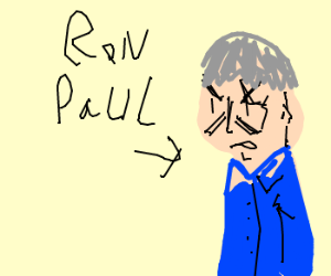 Ron Paul angry over new bowl cut.