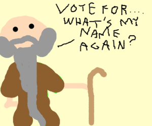 102 y/o man wants your vote!