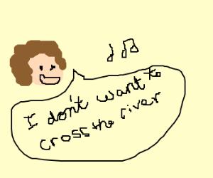 dan pek singing i dont want to cross the river