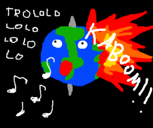 Earth explodes in song  (Don't panic!)