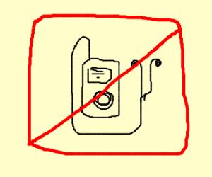 no ipods!