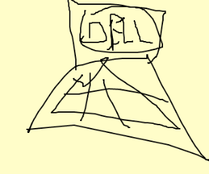 Poorly drawn Dell Laptop