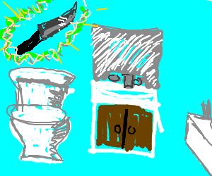 Possessed knife haunts bathroom
