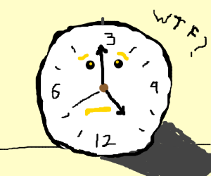Clock doesnt know whats going on