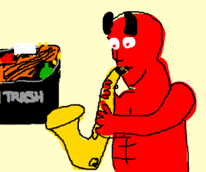 Devil throws out fiddle, tries saxophone
