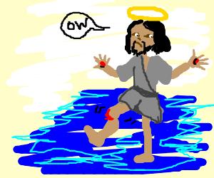 Jesus disjointed his knee
