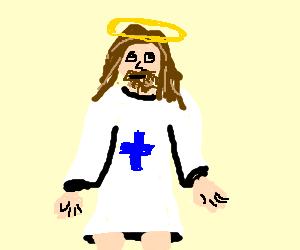 Jesus in the spotlight.