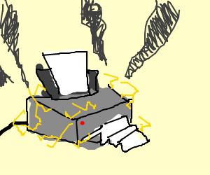 Printer broke down