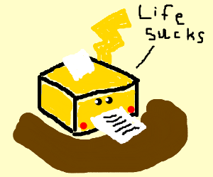 Pikachu-printer has a bad day