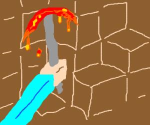 how to make molten pickaxe