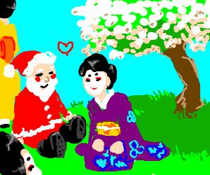 Santa loves Geisha's
