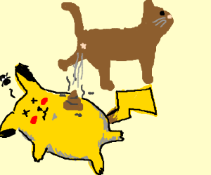 cat poops on picacho and he dies