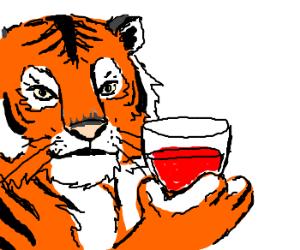Tiger drinking merlot? Charlie Sheen??