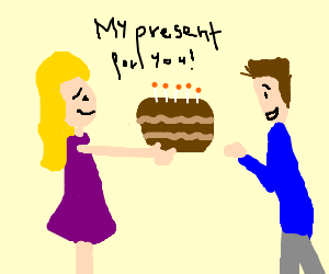 My present is this pie