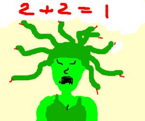 Medusa sucks at math.