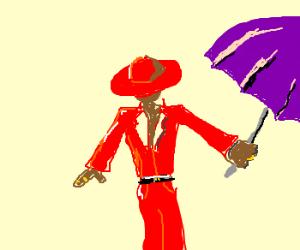 pimp with umbrella
