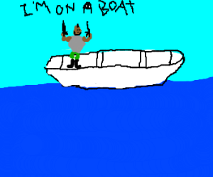 """Mr. T's rendition of """"I'm on a Boat"""""""