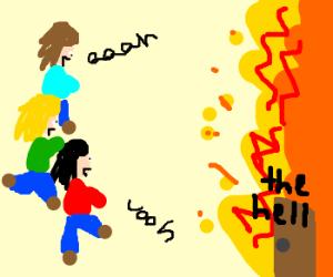 Girls aloud visit hell!