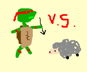 TMNT Battles Evil Sheep with Arrows