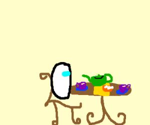 EVA-01 Sits down for tea