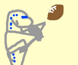 plane plays football
