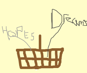 basket full of my hopes and dreams