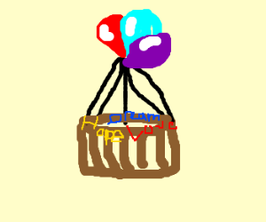 carrying your hopes and dreams in basket
