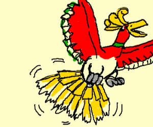Ho-oh uses Tail Whip!