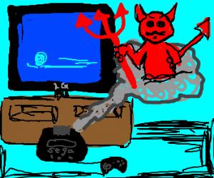 Game Genie code summons devil