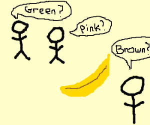 Colorblind people guess banana's color