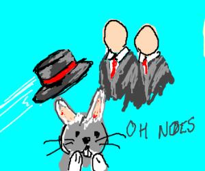 Hat thrown @ faceless men;BunnyConcerned