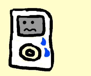 Oldest generation iPod is sad
