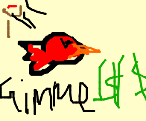 Angry bird threatens to mug you