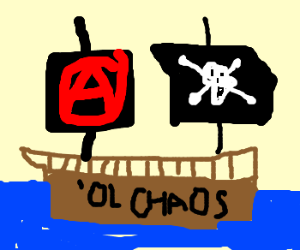 Pirates Sail 'Ol Chaos With Anarchy Flag