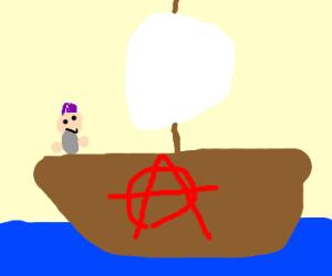 Anarchist sails the seas