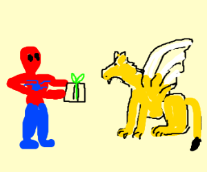 Spidey teaches griffin to share