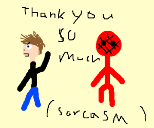 SARCASTICALLY THANKING SPIDERMAN