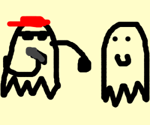 Two ghosts having MC Battle